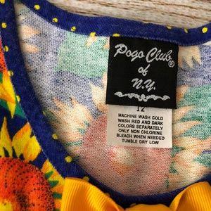 Pogo Club of NY Dresses - Pogo Club NY 12 Months Sun Dress Bows Sunflower